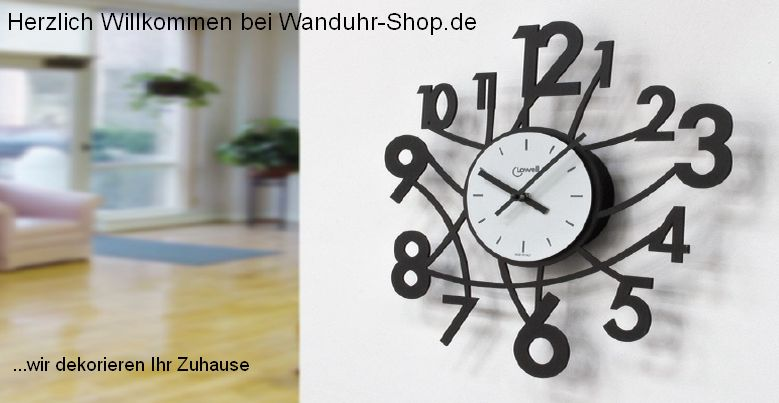 wanduhr shop wanduhren und uhren in riesenauswahl preiswert de. Black Bedroom Furniture Sets. Home Design Ideas